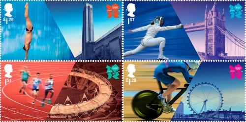Почтовые марки Великобритании, посвященные Олимпийским играм
