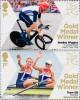 Почтовые марки Великобритании с чемпионами Олимпиады