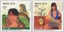 """Почтовые марки Бразилии """"Мифы и легенды"""""""
