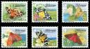 Почтовые марки Олдерни с изображением бабочек