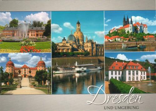 """Посткроссинг: почтовая открытка Германии """"Виды Дрездена"""""""