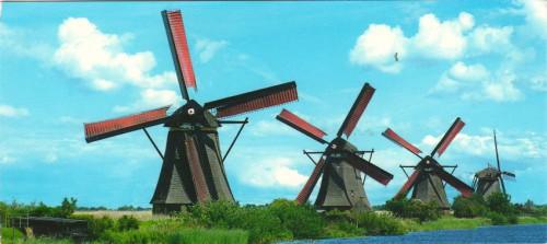 """Посткроссинг: почтовая открытка Голландии """"Мельницы"""""""