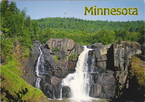 """Посткроссинг: почтовая открытка """"Водопад в Миннесоте"""""""