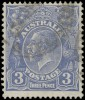 """Почтовая марка Австралии """"Георг V"""" с перевернутым водяным знаком"""