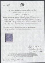 """Сертификат на почтовую марку Австралии """"Георг V"""""""