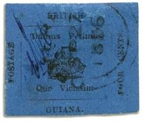 марка Синяя Гвиана