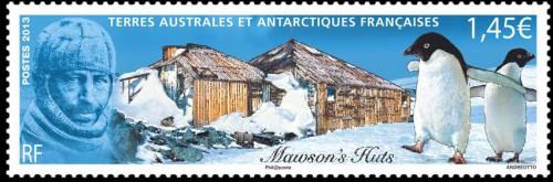 Антарктическая марка с пингвинами