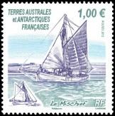 Антарктическая марка с яхтой