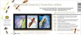 Почтовый блок Канады с насекомыми
