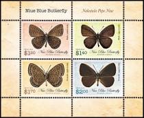 Малый лист Ниуэ - бабочка