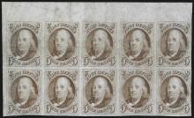 Блок почтовых марок США