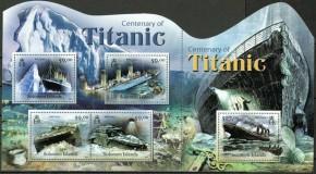 """Фигурный почтовый блок """"Титаник"""""""