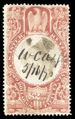 Гербовая марка США с перевернутым центром
