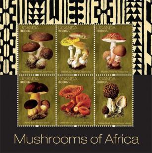 Марочный лист Уганды с грибами