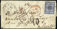 Почтовый конверт с первой маркой колонии Франции - Реюньон