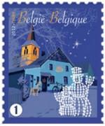 Новогодняя марка Бельгии