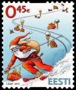 Новогодняя марка Эстонии