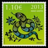 Год Змеи на марке Эстонии