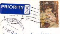 марка Финляндии на открытке