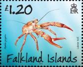 Марка Фолклендских островов лобстер