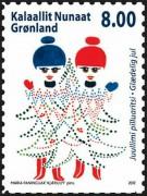 Новогодняя марка Гренландии
