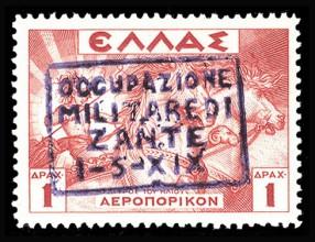 Оккупационная марка Италии с надпечаткой