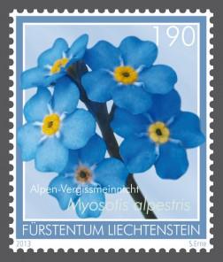 Цветы на марке
