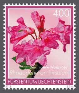 Альпийские цветы на марке