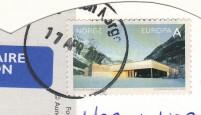 """марка Норвегии """"Европа"""" на почтовой открытке"""