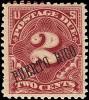 Почтовая марка Пуэрто-Рико с ошибкой в надпечатке