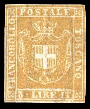 Почтовая марка Тосканы