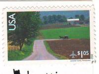 марка США на открытке