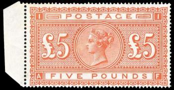 Почтовая марка Великобритании номиналом 5 фунтов