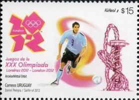 Футбол на марке Уругвая