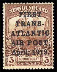Почтовая марка Ньюфаундленда с надпечаткой