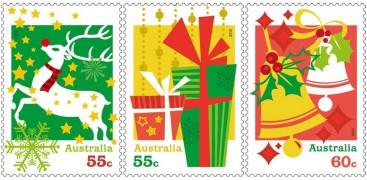 Новогодние марки Австралии