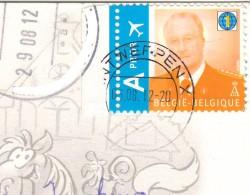 марка Бельгии на открытке
