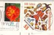 марки Германии на открытке