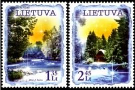 Новогодние марки Литвы