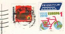 Марки Нидерландов на открытке