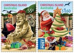Новогодние марки острова Рождества