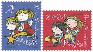 Новогодние марки Польши