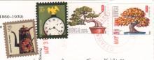 марки США на открытке