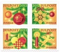 Новогодние марки Швеции