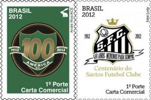 футбольные клубы на марках Бразилии