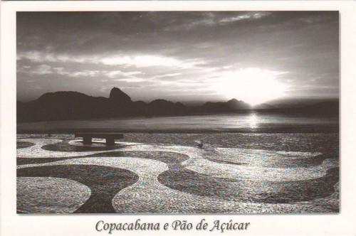Посткроссинг: почтовая открытка Бразилии «Пляж Копакабана»
