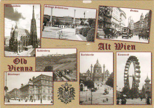 Открытка Австрии Вена