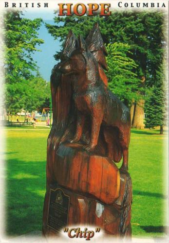 Посткроссинг: открытка Канады - Памятник собаке