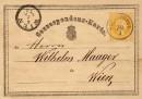Первые маркированные почтовые карточки Австро-Венгрии