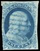 Почтовая марка США 1851 г. с Франклином